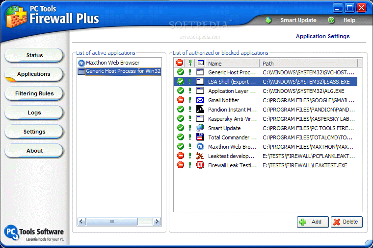 mejor cortafuegos gratis - PC Tools Firewall Plus
