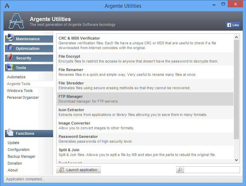 Argente - Utilities Suite programa para optimizar windows