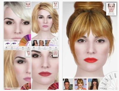 ModiFace cambio de look virtual gratis