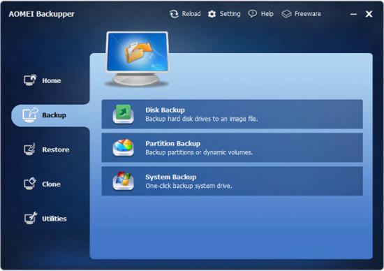 AOMEI Backupper mejores programas gratis para hacer copias de seguridad