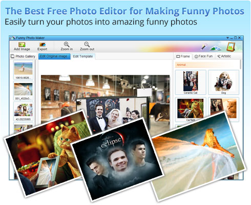 Funny Photo Maker mejores programas gratis para hacer collages