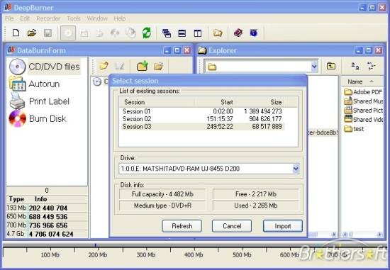 DeepBurner Free mejores programas gratis para grabar cd dvd