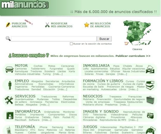milanuncios - Mejores páginas web para poner anuncios gratis en Internet
