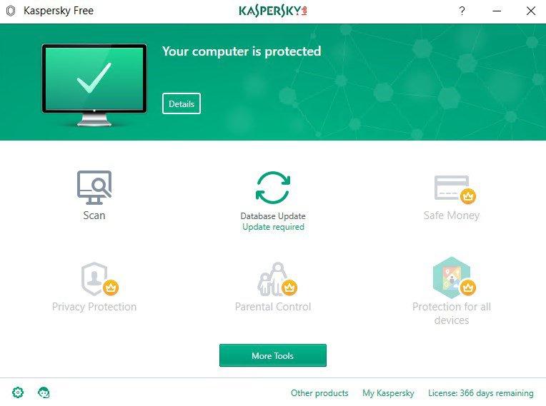 mejor antivirus gratis - Kaspersky Free Antivirus