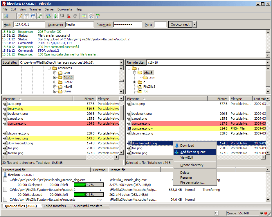 mejores clientes ftp gratis - FileZilla