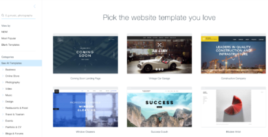 Mejores sitios para crear un blog gratis - wix