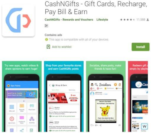 Cash N Gifts mejor app para tener códigos de PSN gratis