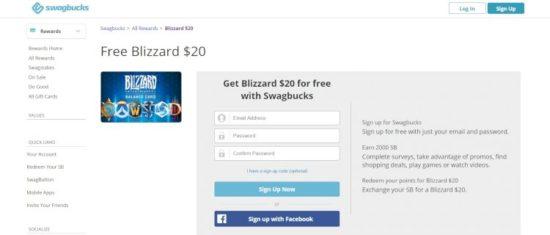 Swagbucks cuentas Overwatch gratis