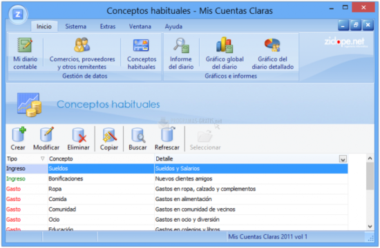programa de contabilidad domestica gratis - Mis Cuentas Claras