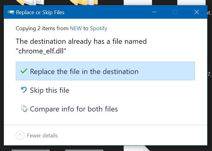 reemplazar archivos Spotify Windows mod
