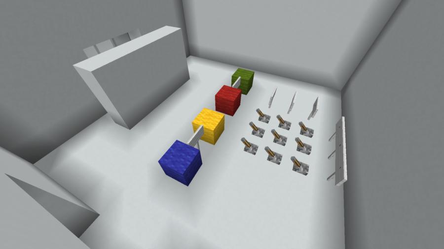 Una captura de pantalla de un mapa de rompecabezas de Minecraft.
