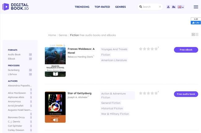 Digitalbook página web de audiolibros gratis