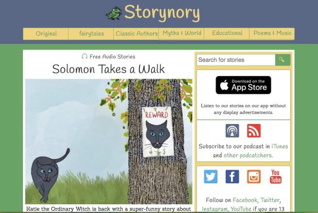 Storynory audiolibros gratis para niños