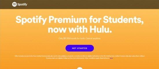 descuento para estudiantes de Hulu y spotify