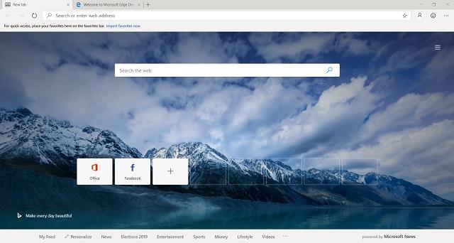 Descargue Microsoft Edge 3 con cromo