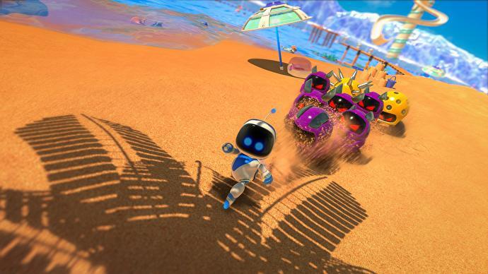 Astro hace una escapada de arena en la sala de juegos de Astro