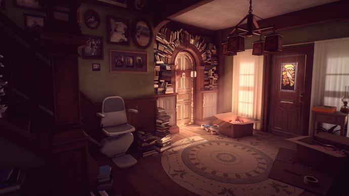 Una habitación oscura y misteriosa de Lo que queda de Edith Finch