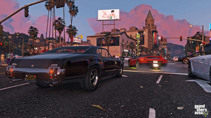 Coches rápidos en las calles de GTA 5
