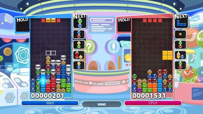 Juego de Puyo Puyo Tetris