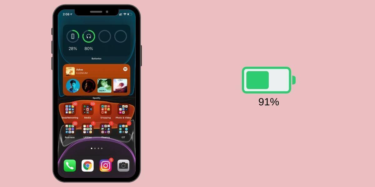 Cómo activar el porcentaje de batería en el iPhone 12 y el iPhone 12 Mini