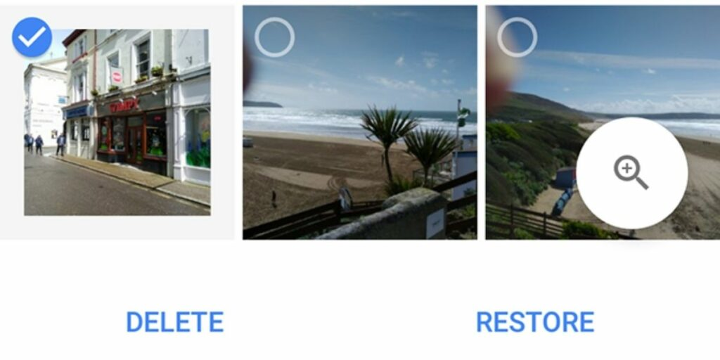 Recuperar fotos borradas de Google Photos Bin