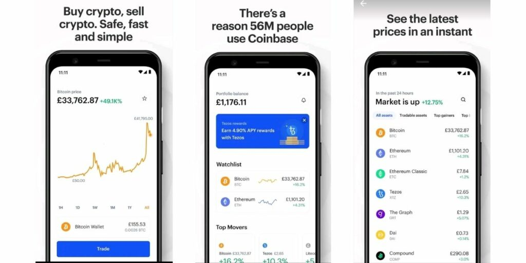 mejores aplicaciones para comprar criptodivisas Coinbase