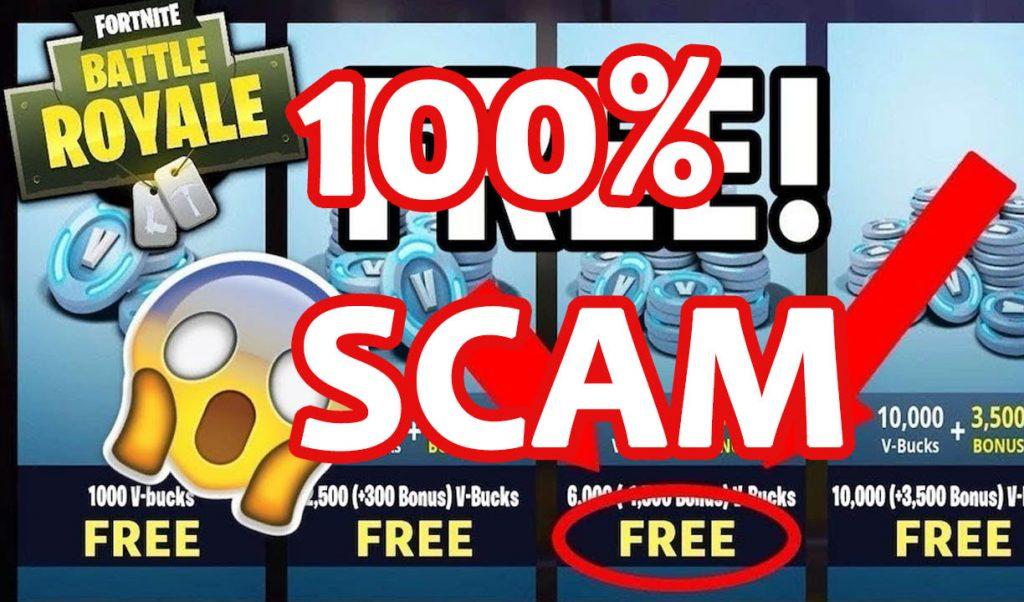 Scam generador de Fornite V-Bucks