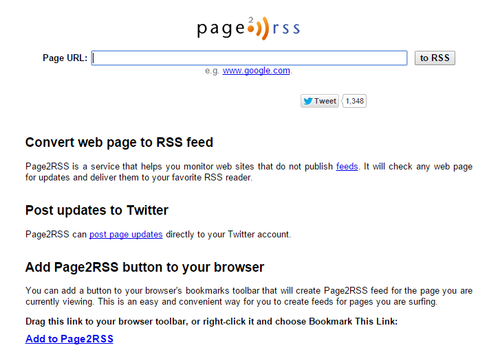 page2rss