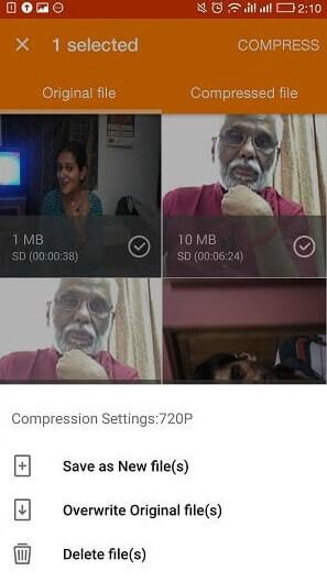Aplicación de compresor de video