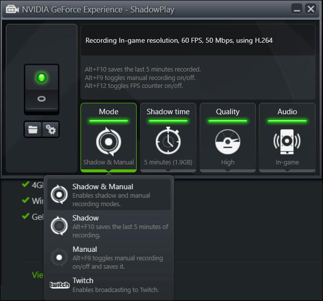 ShadowPlay de NVIDIA